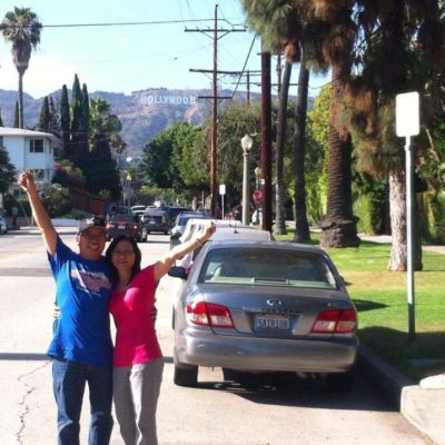 Jhun and Judy in Hollywood