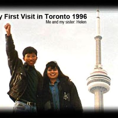 Jhun Ciolo Diamante and Sister Helen during my first visit in Toronto 1996