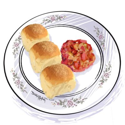 Pandesal with tomato