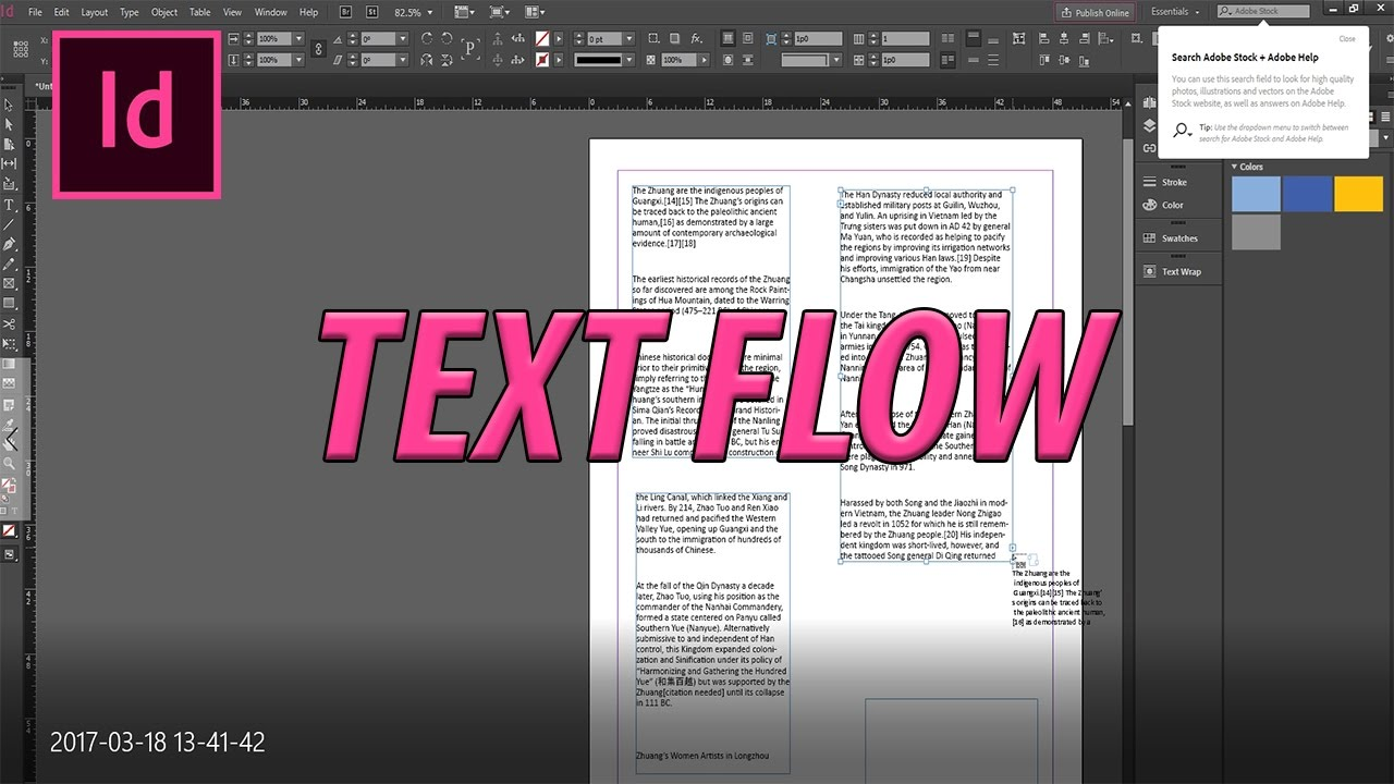 How to Use Adobe InDesign #5 Flowing Text